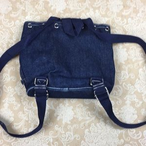 Longaberger Bags - Longaberger Denim Americana Mini Backpack